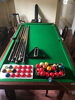 Slate Bed Snooker Dining Table & 6 Chairs