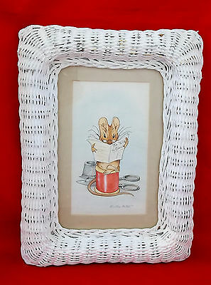 Beatrix Potter Mouse Tailor Gloucester Orenco Wicker Framed Signed Print