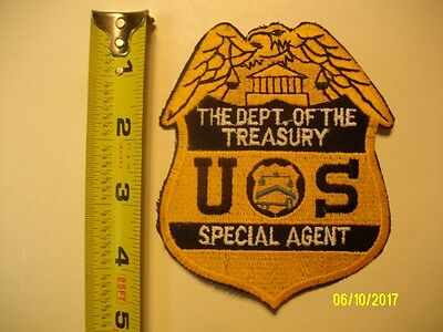 PATCH, DEPARTMENT OF THE TREASURY U.S. Special Agent NEW unsewn.