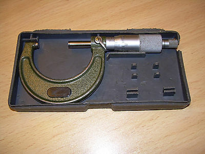 """Mitutoyo  1 - 2""""  Micrometer  In  Used  Condition"""