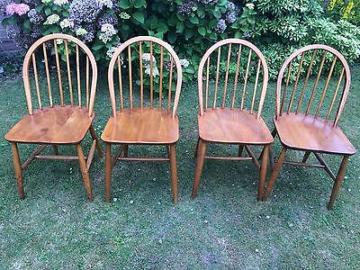 VINTAGE UNRESTORED ORIGINAL CONDITION ERCOL WINDSOR DINING CHAIRS x 4