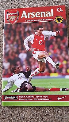 Arsenal program 2003/2004