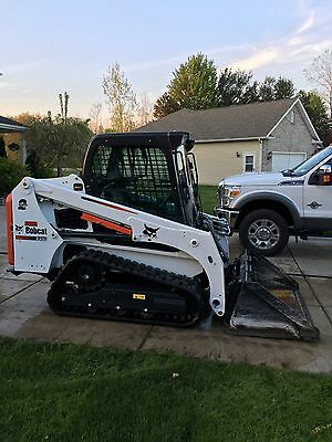 2015 Bobcat T450 Skid Steer Loader, AC/Heat, 2 Speed, SJC Pilot Controls, 61 HP