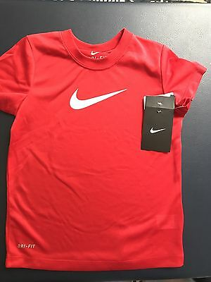 Kids Size 5 NIKE Dri-fit T-shirt Red New with tags Boys Girls