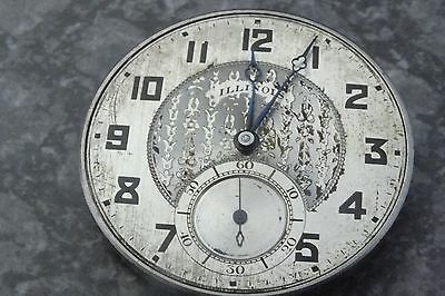 ILLINOIS AUTOCRAT POCKET WATCH MOVEMENT 17J DOUBLE ROLLER works nice