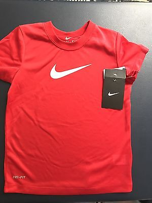 Kids Size 6 NIKE Dri-fit T-shirt Red New with tags Boys Girls