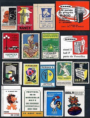 France Poster Stamps - Group of 17 Different Events - 1930s-1970s      (#9952)