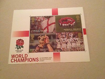 GB 2003 Rugby World Cup - Miniature Sheet - MNH Mint Unfolded