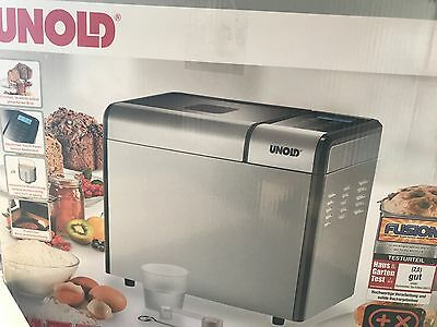 Unold  Automatic Bread Maker Machine Top Edition UK ADAPTER INCLUDED