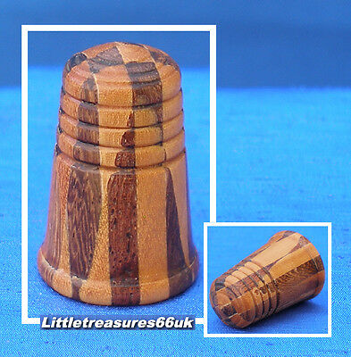 Turned Wood Marquetry Thimble.....