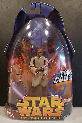 Star Wars - 2005 Revenge Of The Sith Mace Windu Figure - Factory Sealed!