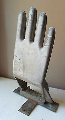 Antique Industrial Factory METAL HAND GLOVE MOLD Form Machine Age Steampunk