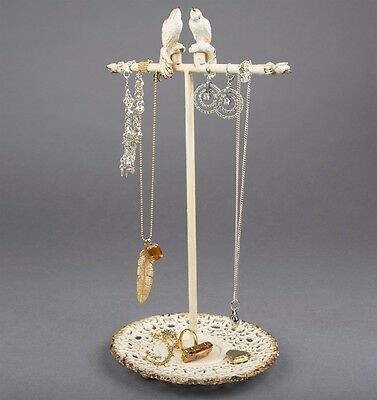 Sass And Belle Boudoir Bird Vintage Country Chic Jewellery Stand RRP £18.00