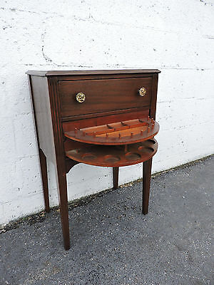 Mahogany Sewing Table Side End Table  Nightstand 7971