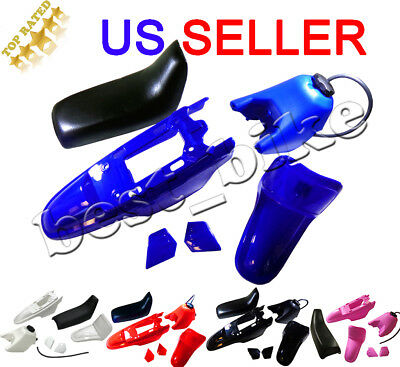 Yamaha PW50 PY50 Plastic Fender Body Seat Gas Tank Kit Blue red black pink white