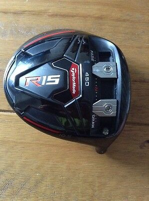 Taylormade R15 Black Driver Head Only 10.5 Loft In Excellent Condition.