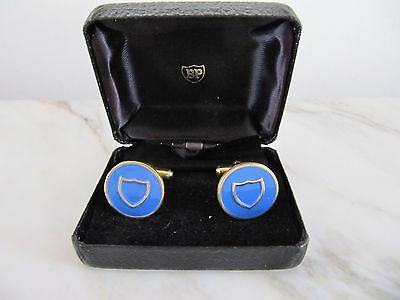 Vintage BP  British Petroleum Shield cuff links in original box