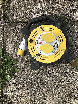 110V 40m Extension Cable ReeL 110 Volt 2.5mm 2 Sockets Site Workshop HEAVY LEAD