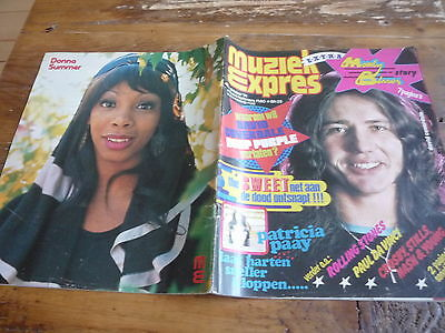Muziek Expres 1974: Deep Purple /The Sweet /Rolling Stones/Donna Summer/Rubettes