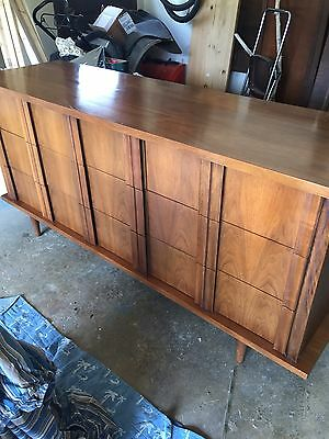 Vintage Mid Century Solid Wood Nine Drawer DRESSER by American of Martinsville