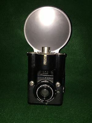 Vintage Eastman Kodak Brownie Flash Six-20 Camera With Flash - Nice Condition!!!