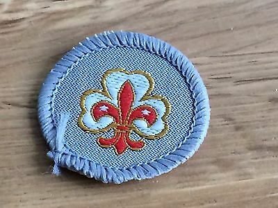 Vintage UK Boy Scouts Guides fellowship member Cloth Badge Unused