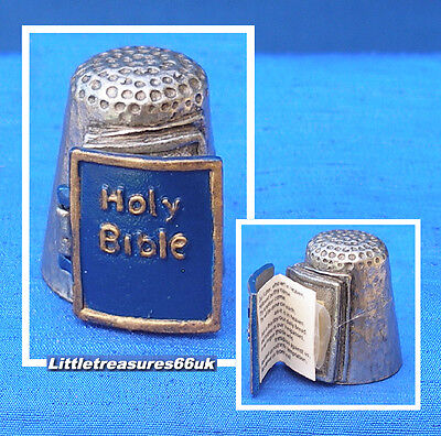 Pewter Stephen Frost Holy Bible Thimble.....