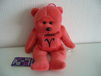 Red Aires Birthday Zodiac Bean Filled Teddy Bear