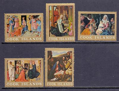 Cook Islands. Set of 5 mint lightly hinged Christmas stamps. 1966