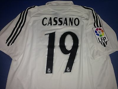Maglia Calcio Shirt Camiseta Real Madrid Cassano Adidas  Xl Patch Liga Ronaldo