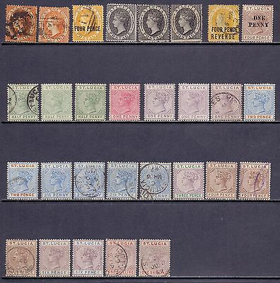 St Lucia. 29 mint and used QV stamps. They catalogue at circa £443