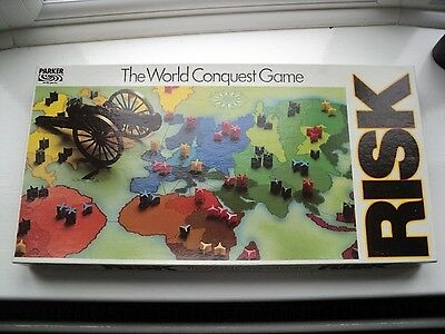 Parker Bros - Vintage Risk Board Game - 1970's - 100% Complete - Vgc