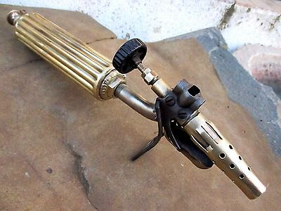 Antique Or Vintage Brass Gasoline Rare Blow Torch Max Sievert Type 291 Sweden