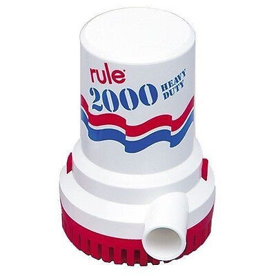 Rule 2000 GPH Marine Bilge Pump 12V Model 10