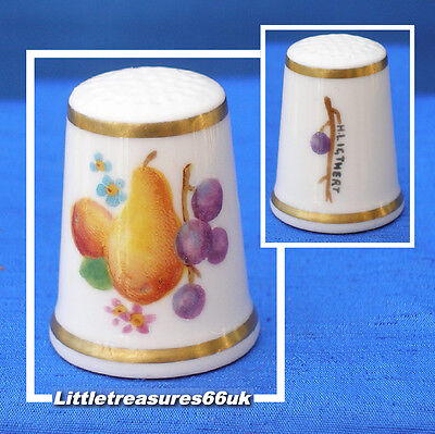 Royal Worcester Hand Painted Fruit Thimble.....h.ligthert