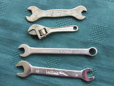 4 Assorted Spanners Britool Jaguar Terrys And 1 0Ther