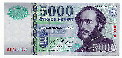 Hungary Pick 191a 5000 Forint banknote 2005 in UNC condition