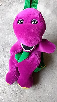 Barney purple dinosaur backpack retro plush purse doll pre owned GREAT Condition