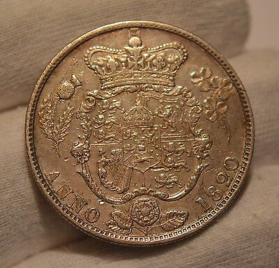GB 1820. George IV Silver Half-Crown     *Extremely Nice Example*