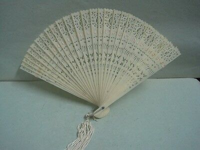 Chinese fan  Carved in celluloid
