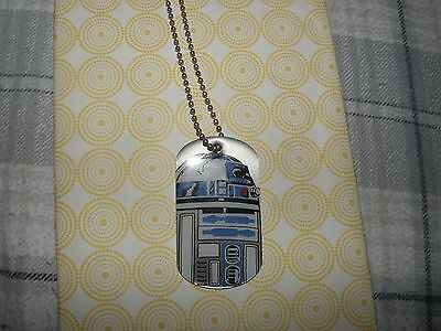 Official R2D2 Star Wars Dog Tag Necklace W/Chain