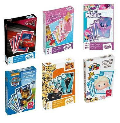 CARS 3 DESPICABLE ME 3 PAW PATROL PRINCESS HAPPY FAMILIES Playing Cards 2 IN 1