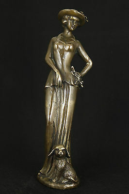 Super Chinese Old Bronze Collectable Hand Carved Belle Statue Figure Ornament