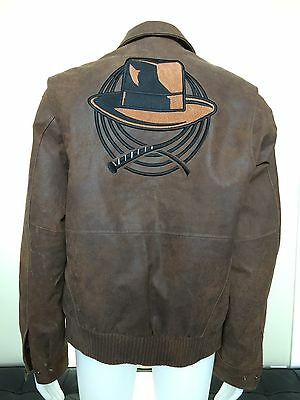 Authentic Indiana Jones Brown Leather Jacket, Lucas Film, Size M