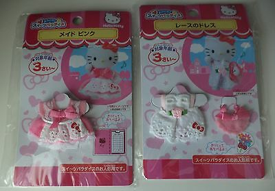 """Hello Kitty Outfits / Clothing for 3"""" doll / figure (not included) 2 Pkgs NEW"""