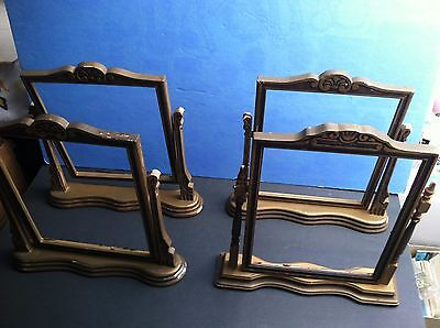 "4  Art Deco - 1920/40's -  Period Table Top "" Swinging "" Wooden Picture Frames"