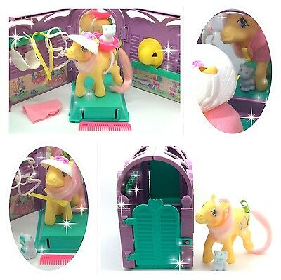 ⭐️ My Little Pony ⭐️ G1 Euro Kiss Curl's Grooming Parlour Playset Near Complete!