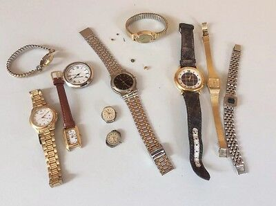 Collection of Old Watches & Parts for Spares or Repair - JOB LOT