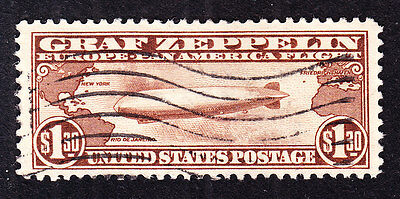 US C14 $1.30 Airmail Used VF SCV $400