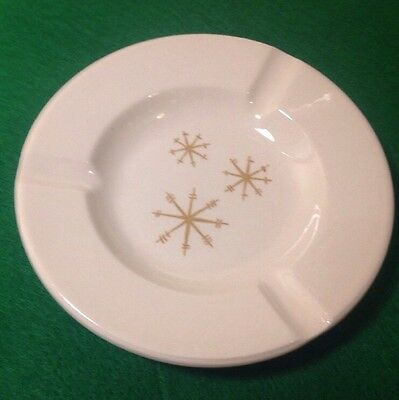 "Vintage Mid Century Modern Royal China Star Glow 5 1/2"" Ashtray Atomic Starburst"